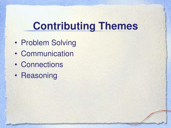 Contributing Themes