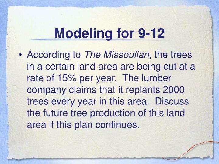 Modeling for 9-12