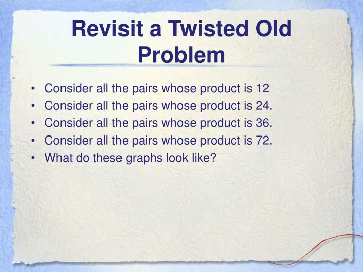Revisit a Twisted Old Problem