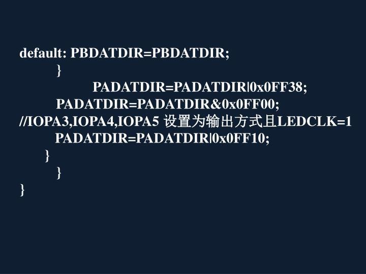 default: PBDATDIR=PBDATDIR;