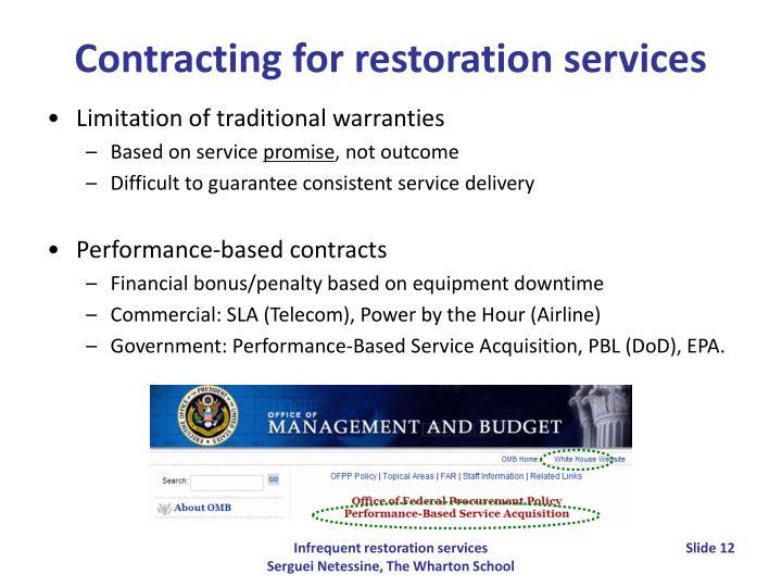 Limitation of traditional warranties