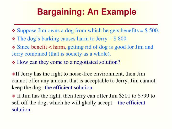Bargaining: An Example