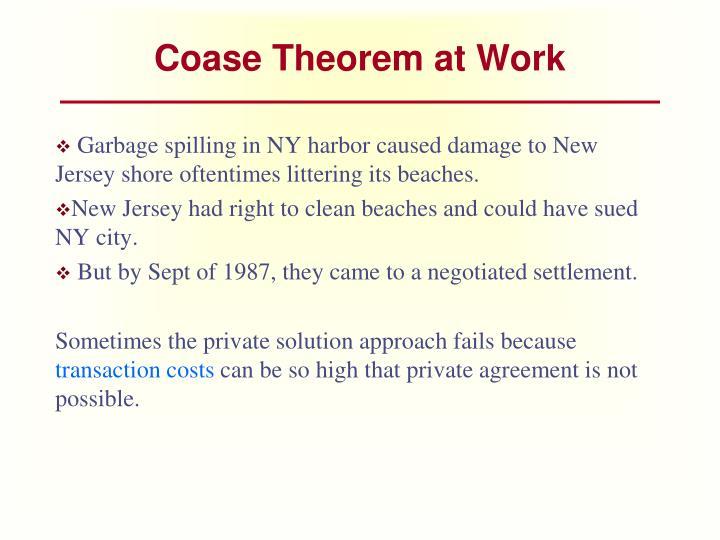 Coase Theorem at Work