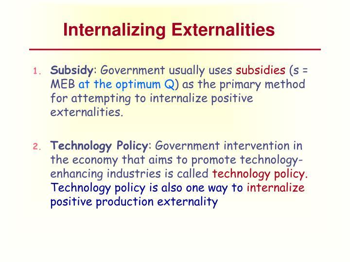 Internalizing Externalities