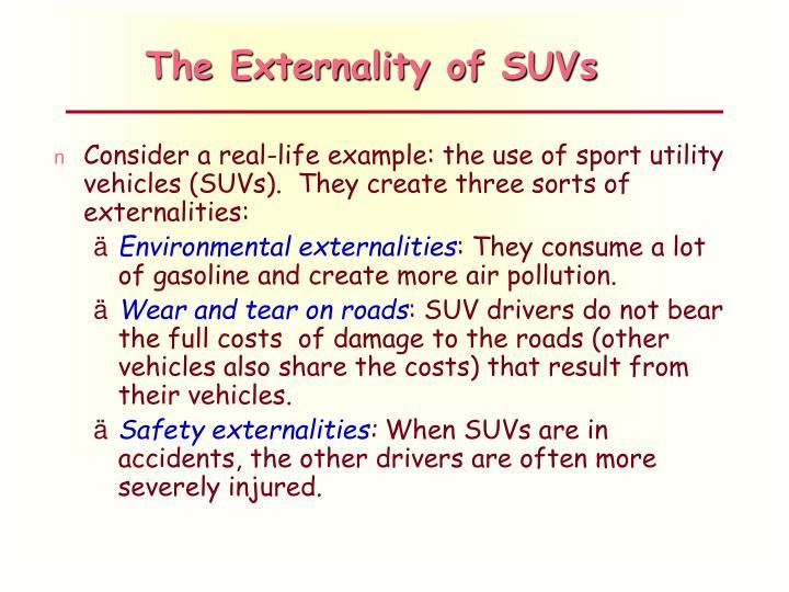 The Externality of SUVs