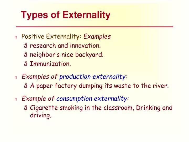 Types of Externality