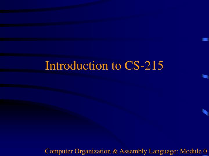 computer organization assembly language module 0