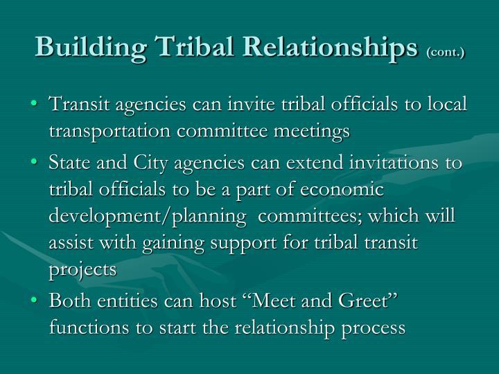 Building Tribal Relationships