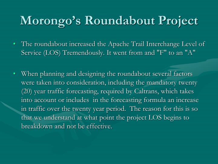 Morongo's Roundabout Project