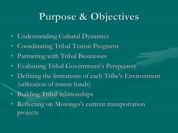 Purpose & Objectives