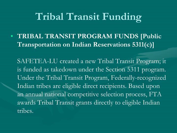 Tribal Transit Funding