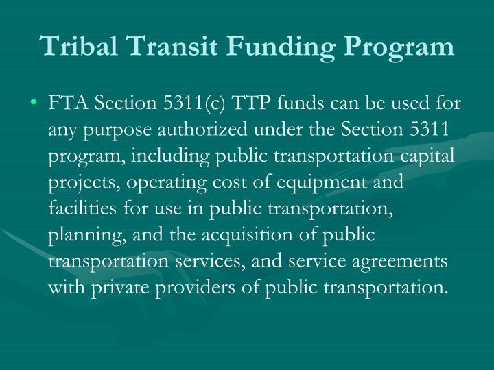 Tribal Transit Funding Program