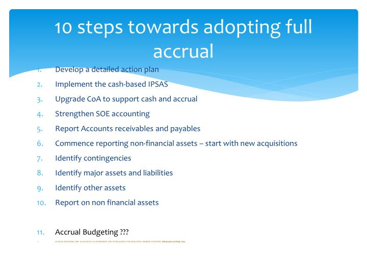 10 steps towards adopting full accrual
