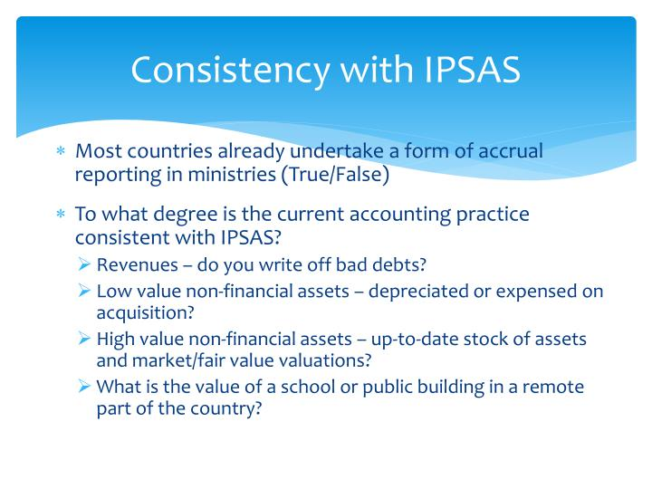 Consistency with IPSAS