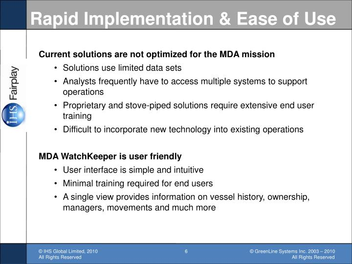 Rapid Implementation & Ease of Use