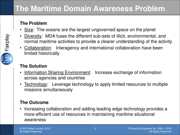 The Maritime Domain Awareness Problem