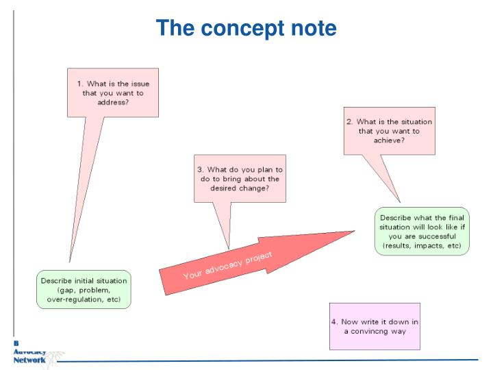 The concept note