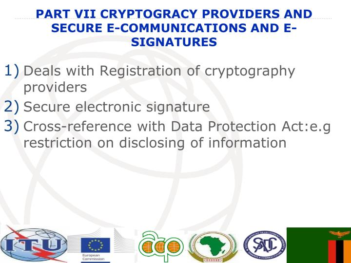 Deals with Registration of cryptography providers