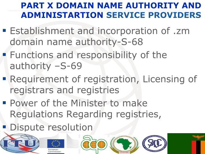 Establishment and incorporation of .
