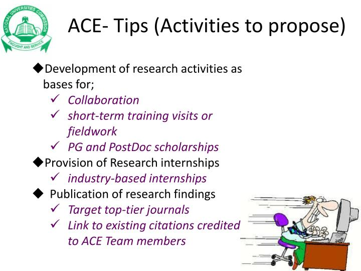 ACE- Tips (Activities to propose)
