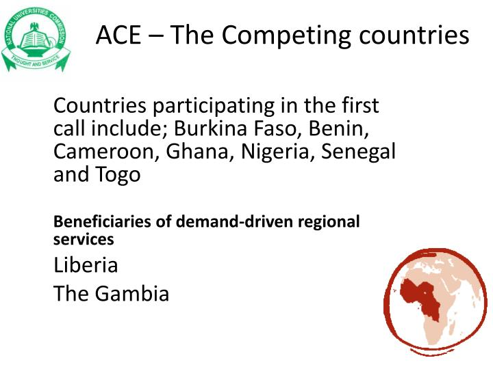 ACE – The Competing countries