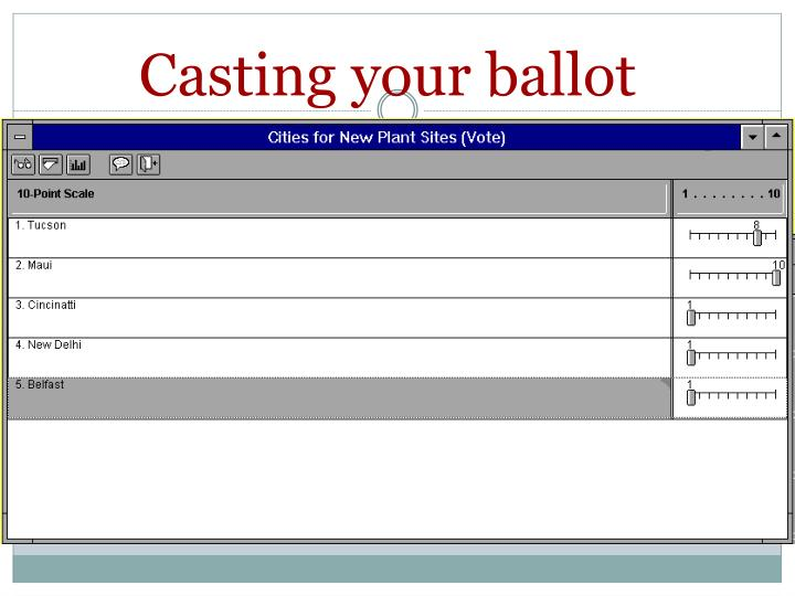 Casting your ballot