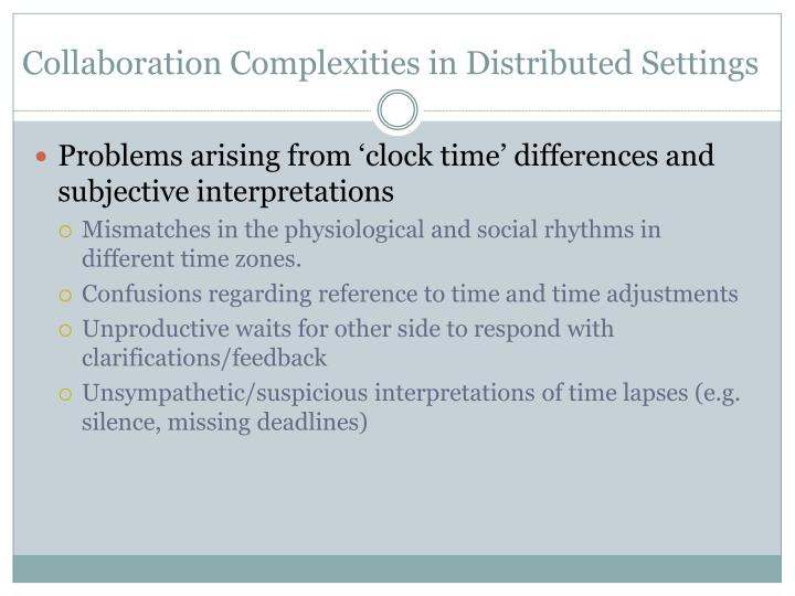 Collaboration Complexities in Distributed Settings