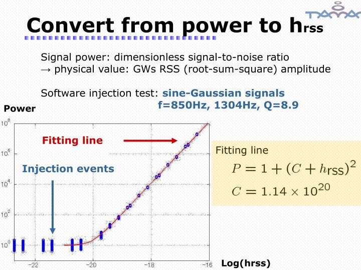 Convert from power to h
