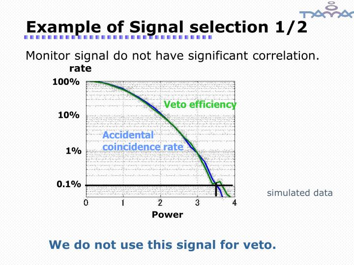 Example of Signal selection 1/2