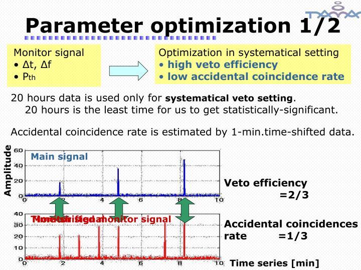 Parameter optimization 1/2