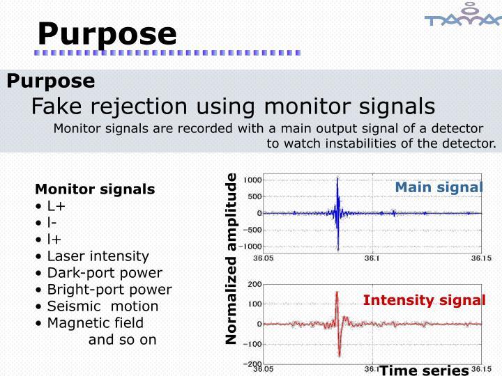 Main signal