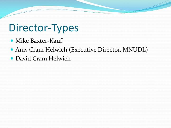 Director-Types