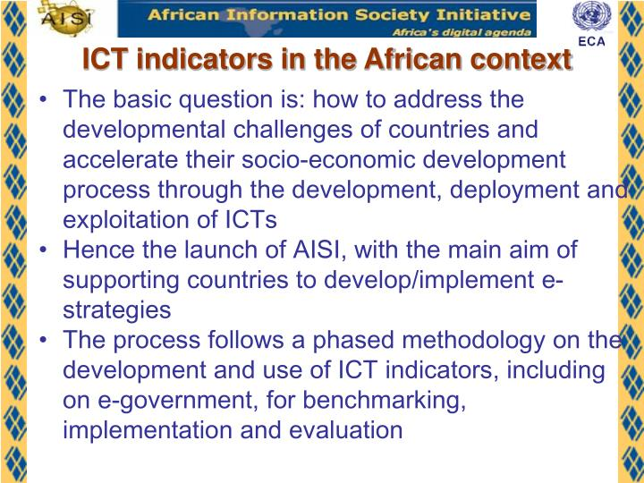 ICT indicators in the African context