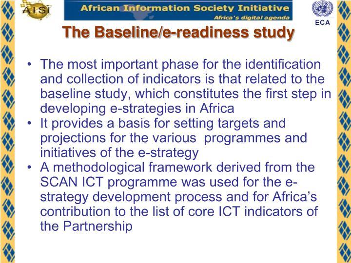 The Baseline/e-readiness study