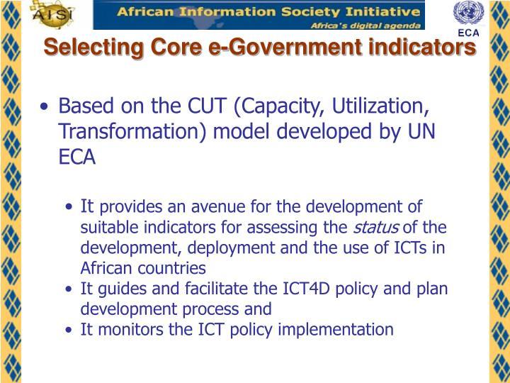 Selecting Core e-Government indicators