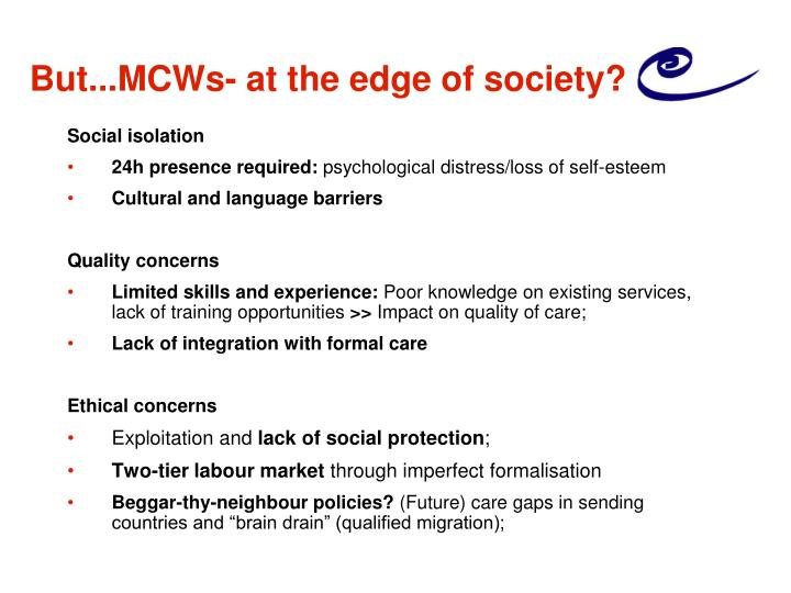 But...MCWs- at the edge of society?