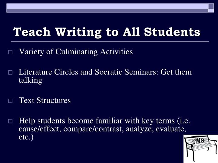Teach Writing to All Students