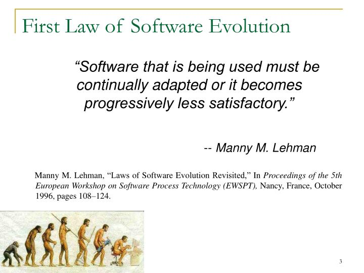First law of software evolution