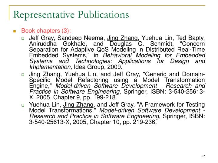 Representative Publications