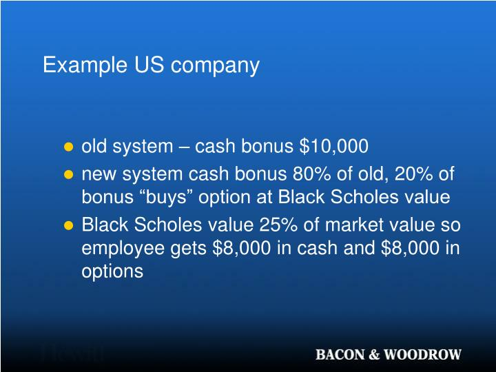 Example US company