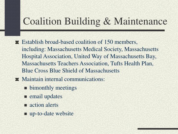 Coalition Building & Maintenance
