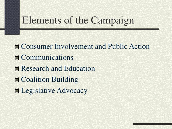 Elements of the Campaign