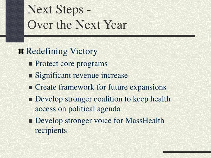 Next Steps -