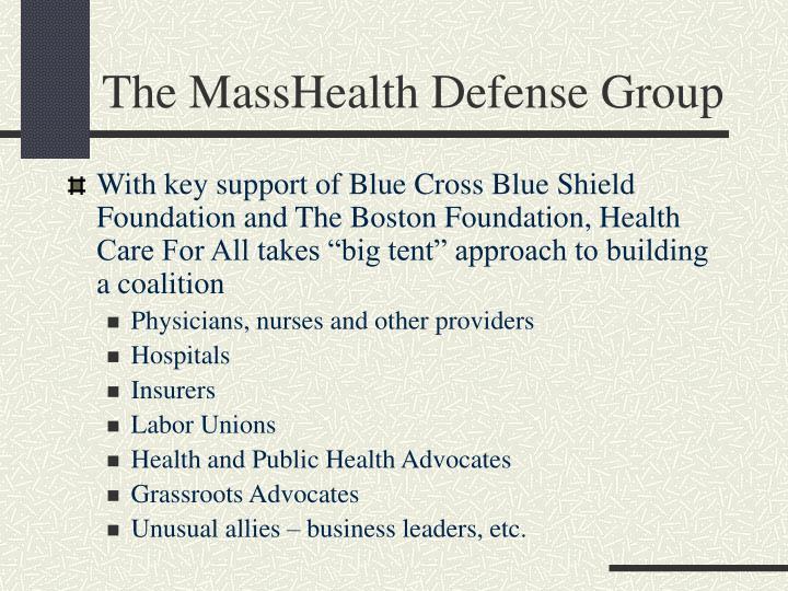 The MassHealth Defense Group