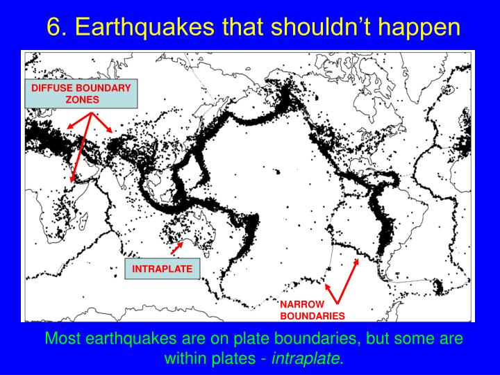 6. Earthquakes that shouldn't happen