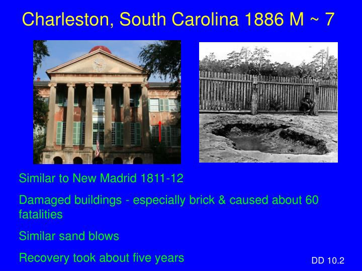 Charleston, South Carolina 1886 M ~ 7