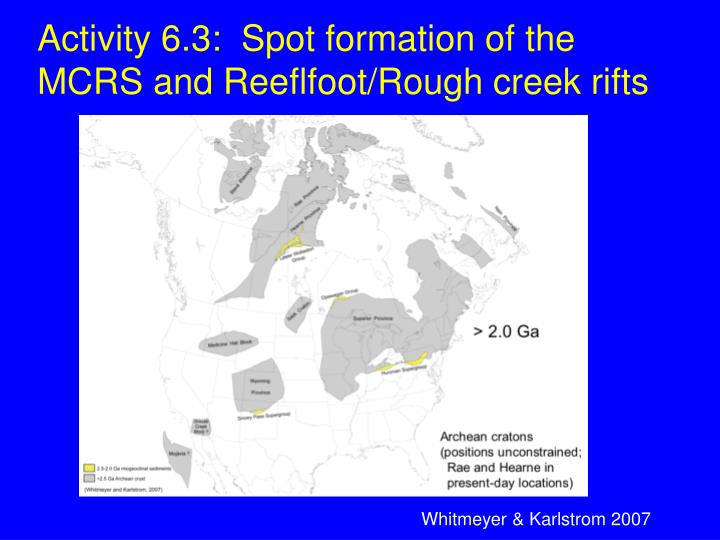 Activity 6.3:  Spot formation of the MCRS and Reeflfoot/Rough creek rifts