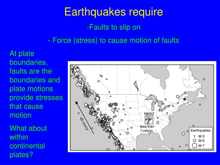 Earthquakes require