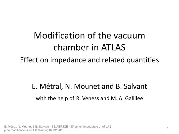 Modification of the vacuum chamber in ATLAS