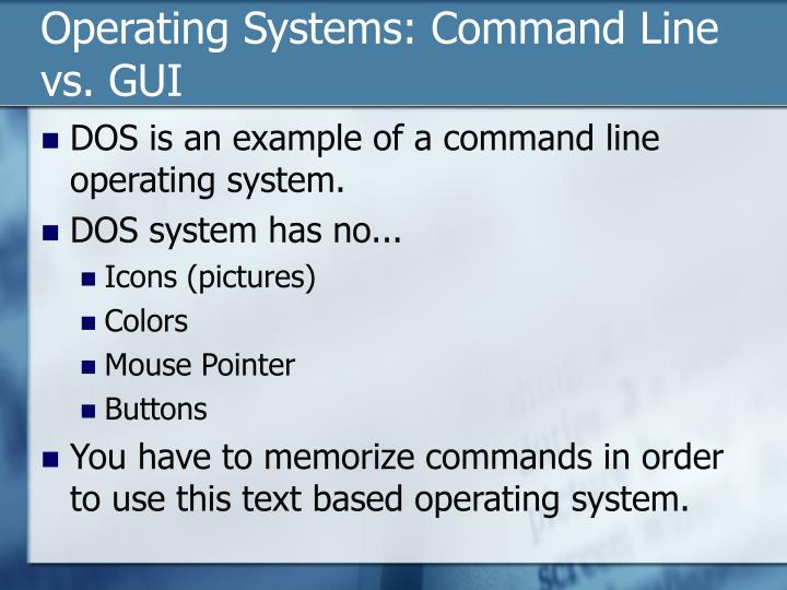 Operating Systems: Command Line vs. GUI